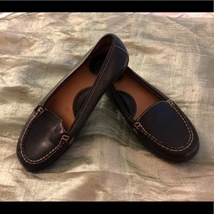 Born Black Leather Flats/Loafers